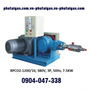 Bơm piston CO2 lỏng 1200kg/h, 10MPA
